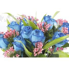 The vase of flowers « Landscape colorful »