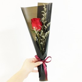 Bouquet single stalk red rose