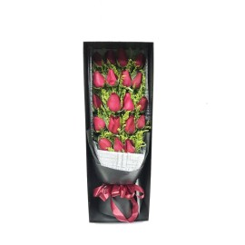 Box of 19 red roses
