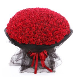 Bouquet of 999 fresh red roses