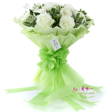 The bouquet of flowers « I'll be here always for you »