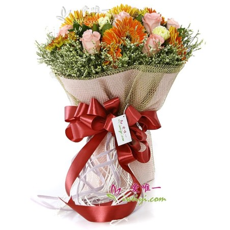 The bouquet of flowers « Thanksgiving »