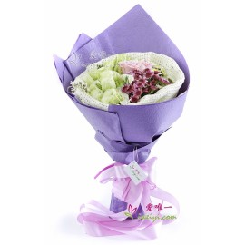 The bouquet of flowers « Love creates miracles »