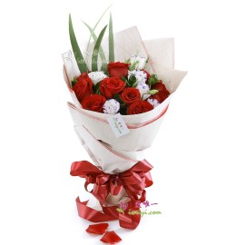 The bouquet of flowers « I'll always love you »