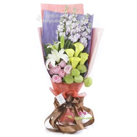 The bouquet of flowers « Love what you love »