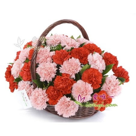 The basket of flowers « Precious Love »
