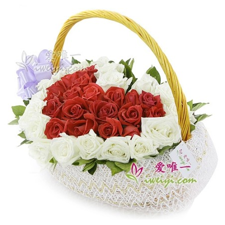 The basket of flowers « Suffocating love »