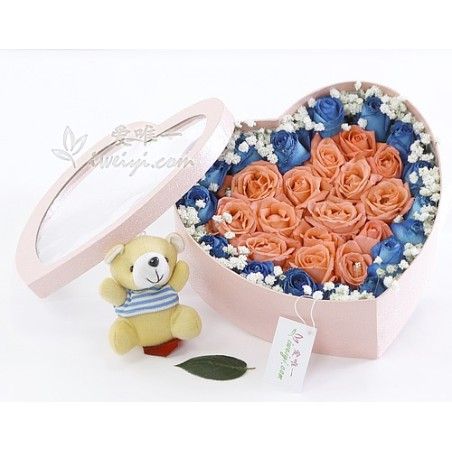 The box of flowers « Love »