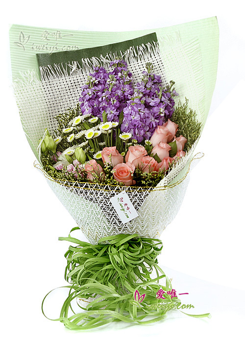 The bouquet of flowers « Right here waiting »