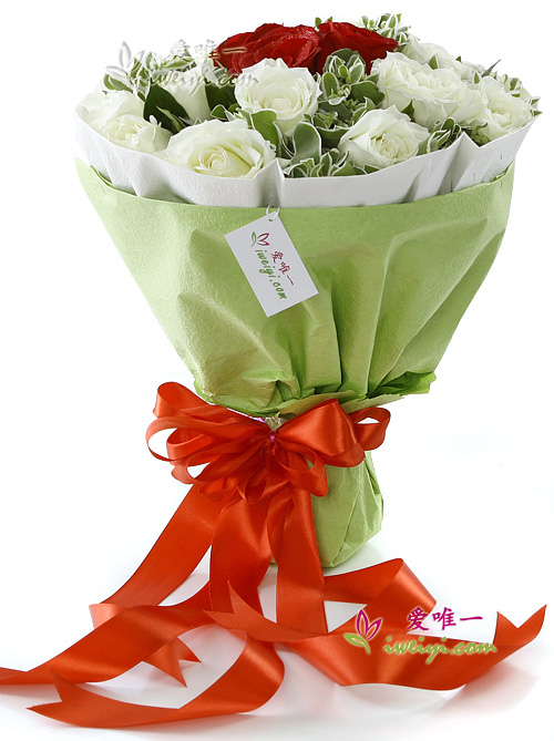 The bouquet of flowers « You are in my heart »