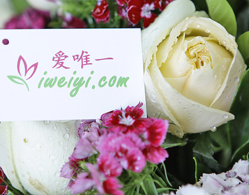 send a bouquet of champagne roses to China