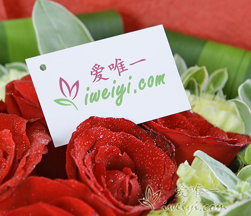 send a bouquet of red roses and yellow carnations to China