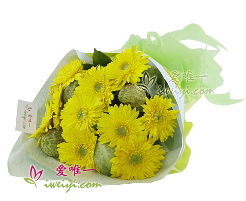 bouquet of yellow gerbera