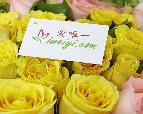 send a bouquet of pink roses and yellow roses to China
